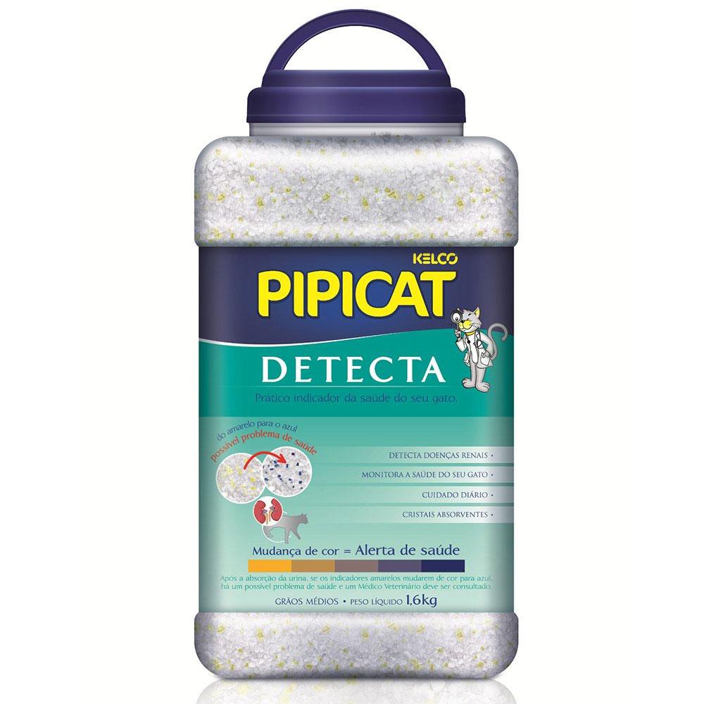 Areia Sanitária Pipicat Detecta - 1,6Kg
