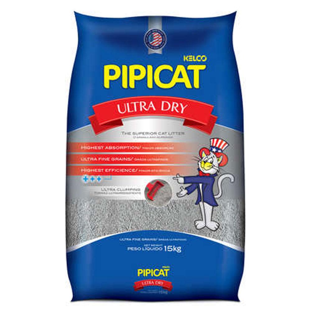 Areia Sanitária Pipicat Ultra Dry - 15Kg