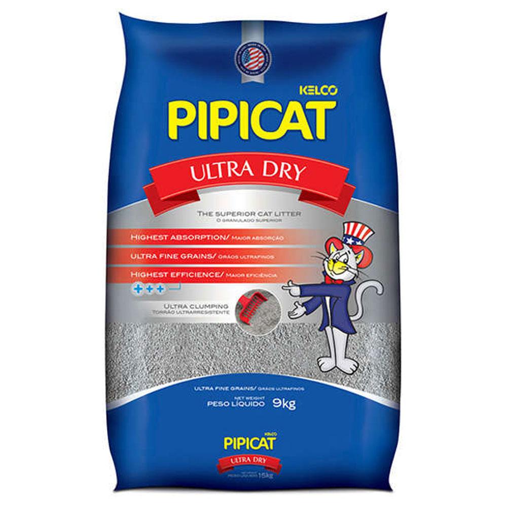 Areia Sanitária Pipicat Ultra Dry - 9Kg