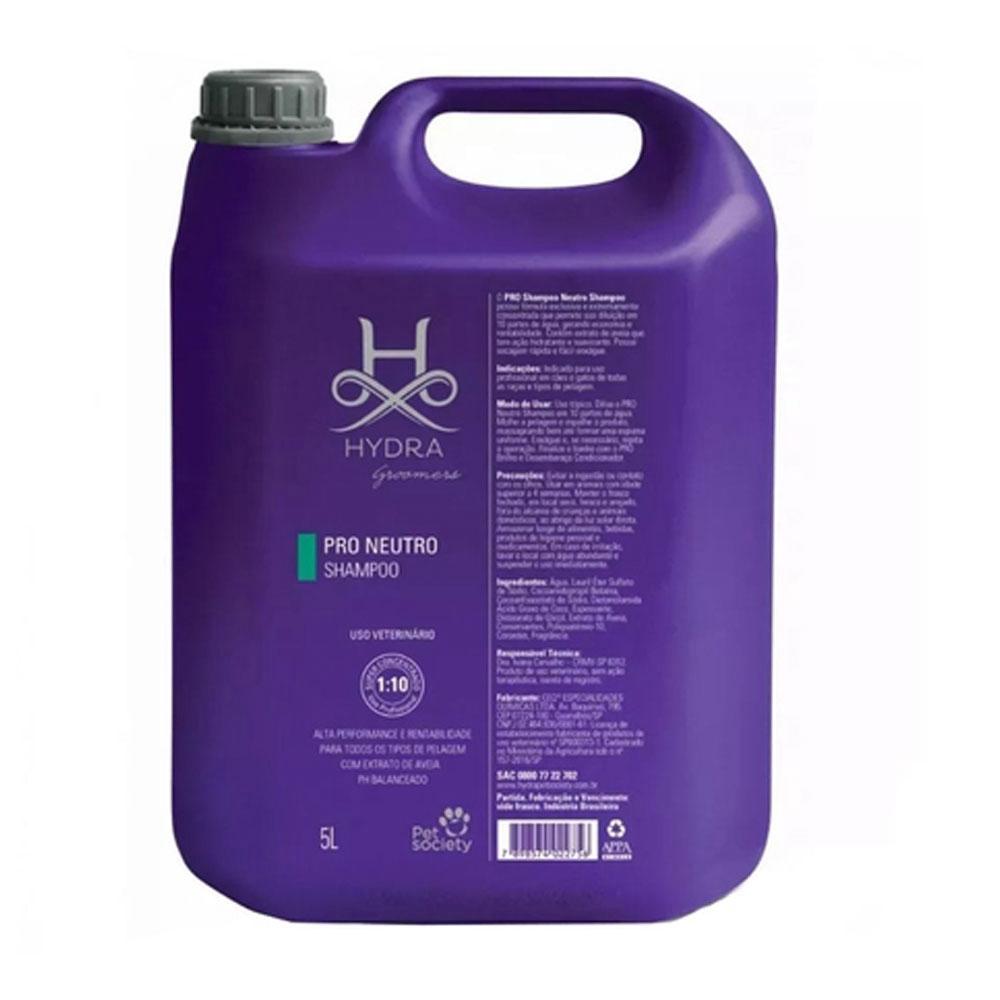 Shampoo Pet Society Hydra Groomers Neutro Super Concentrado 1:10 - 5 Litros