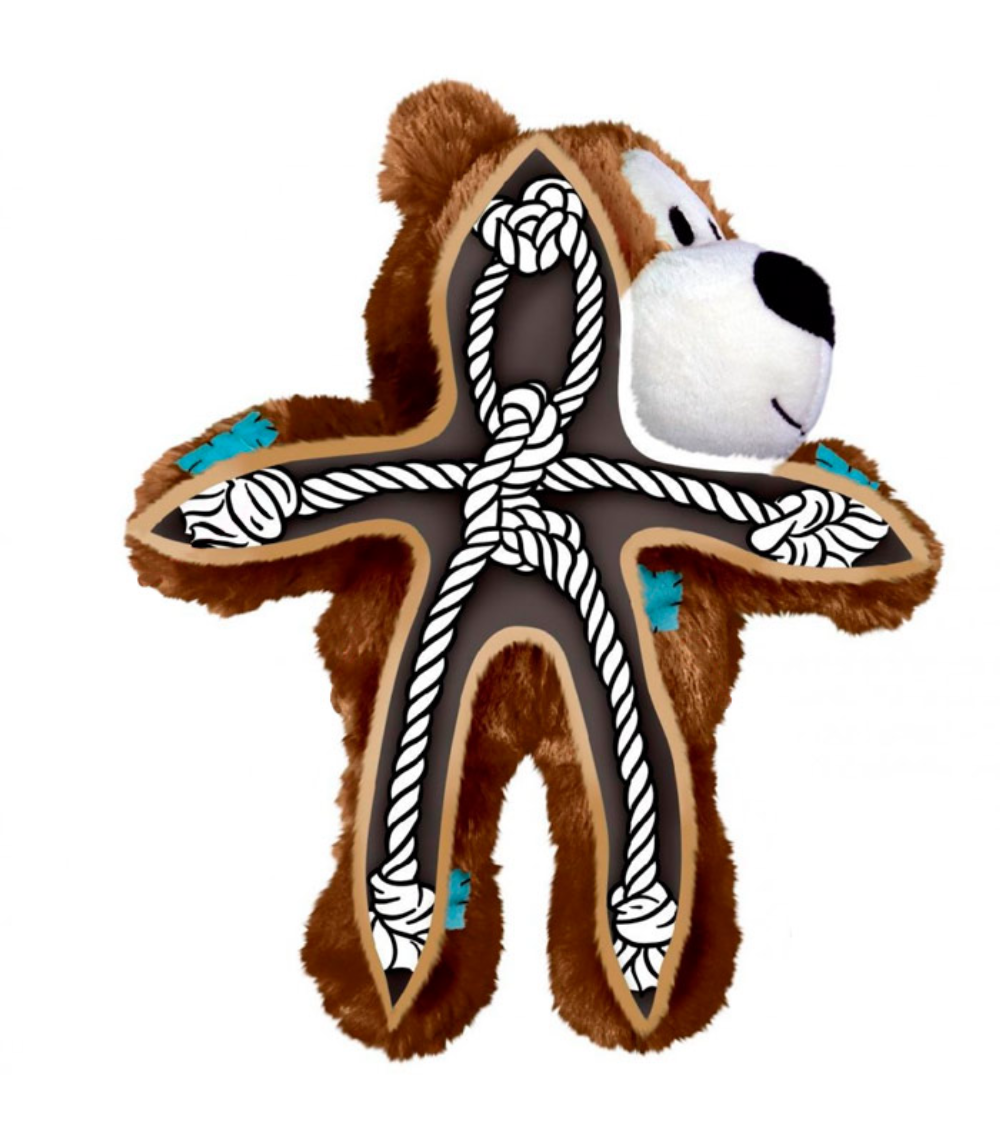 Brinquedo Kong Wild Knots Bear Marrom