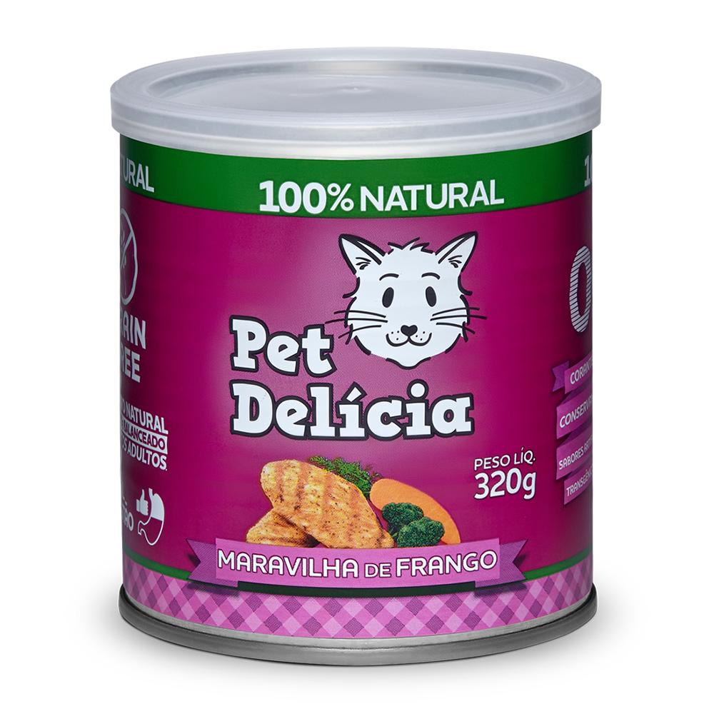 Pet Delícia Maravilha de Frango Alimentação Natural para Gatos - Ração Úmida