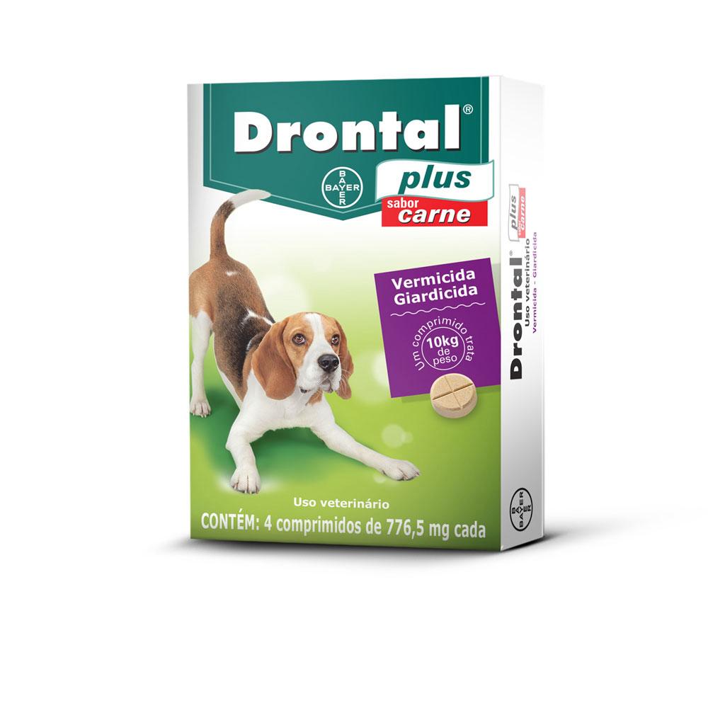 Vermífugo Drontal Plus Cães Sabor Carne