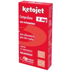 Anti-Inflamatório Agener União Ketojet para Cães e Gatos 5mg  - 10 comprimidos