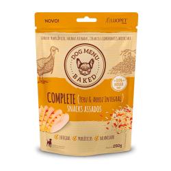 Biscoito Luopet Complete Sabor Peru e Arroz Integral para Cães - 250g