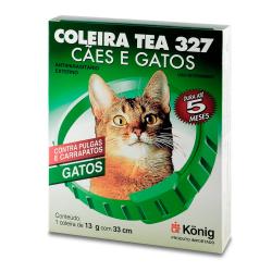 Coleira Antipulgas e Carrapatos König tea 327 para Gatos
