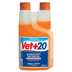 Desinfetante Bactericida Vet+20 Concentrado Limão e Cravo - 500ml
