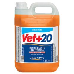 Desinfetante Bactericida Vet+20 Concentrado Limão e Cravo - 5L
