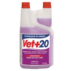 Eliminador de Odores Vet+20 Concentrado Lavanda - 1L