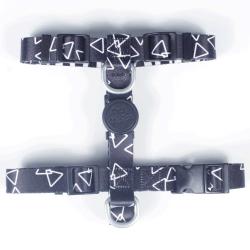 Peitoral H com Guia Pet Choice Triângulos