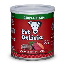 Pet Delícia Caçarolinha de Carne Alimentação Natural para Cães - Ração Úmida