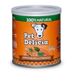 Pet Delícia Jardineira de Frango Alimentação Natural para Cães - Ração Úmida